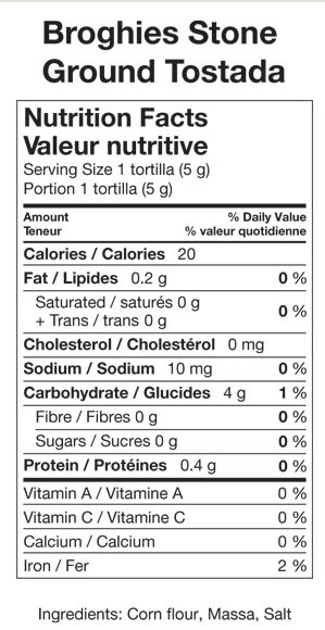 broghies-tostada-nutritional-statement